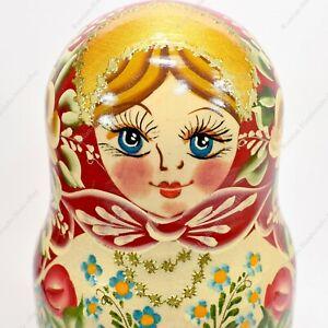 "6.5"" MATRYOSHKA 5 PIECE SET ORIGINAL AUTHENTIC RUSSIAN NESTING DOLLS 5PCS"