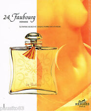 PUBLICITE ADVERTISING 065  1996 HERMES  parfum 24 FAUBOURG