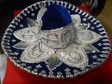 "Great  Mexican Blue  ""Pigalle"" SOMBRERO..18.5"" diameter...........SALE"