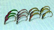 Trout Flies: 3D Buzzers x 12 Size 14 FREE POSTAGE