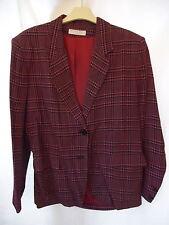 Nicole Farhi Vintage 80's Pink Chequred Blazer Jacket Size 12