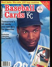 Baseball Cards Magazine July 1987 Bo Jackson jhscd3