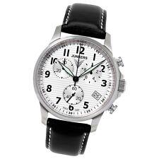 JUNKERS Herren-Uhr Quarzuhr Chrono Tante JU 6890-1 Leder-Armbanduhr UJU6890/1