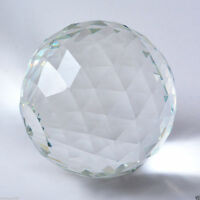 Clear Cut Crystal Sphere 80mm Faceted Gazing Ball Prisms Suncatcher Home Decor