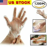 Single use Plastic Gloves Food Handling Transparent Glove Catering Lots Packing