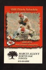 Kansas City Chiefs--Marcus Allen--1996 Pocket Schedule--North Oak Toyota