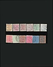 VINTAGE:MACAU-PORTUGAL 1894 USD LH LHR  SCOTT #46-57 $229 LOT #1894X203