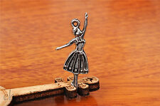 10pcs 32*13mm Charm lovers dance girl Diy Jewelry Bead Making For Bracelet 7207