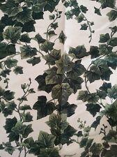 FORESTI HOME COLLECTION tessuto stoffa scampolo misto LINO 65x98 JARDIN foglie
