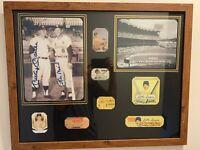Unique Custom Framed Vintage Mickey Mantle Memorabilia