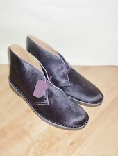 BNIB Clarks ORIGINALS mens aubergine pony hair desert boots size UK 13 EUR 48