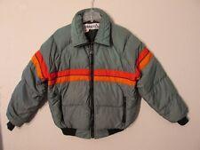 S6801 Vintage 1990's Gerry Men's 2XL Est Gra/Red/Orange Full Zip Down Jacket