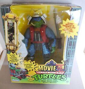 """GIANT 12"""" Vintage TMNT Teenage Mutant Ninja Turtles Movie 3 Samurai Leo 1993"""