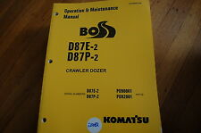 KOMATSU D87 Tractor Dozer Crawler Owner Operator Operation Maintenance Manual E