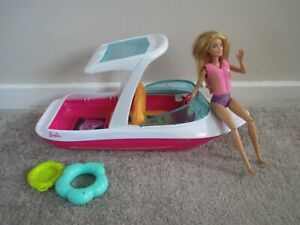 Barbie boat and doll