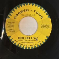 Theresa Lindsey Gotta Find A Way Wonderful One EX CORREC-TONE northern soul