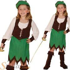 Girls Deluxe Robin Hood Hunter Book Week Fancy Dress Costume Child Outfit