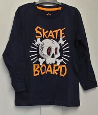 New 100% cotton long sleeve Skater Top Navy age 2-3