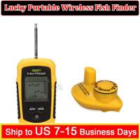Lucky FFW1108-1 Alarm 40M Depth Wireless Sonar Fish Finder Sea Lake Fishing Tool