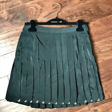 Versace H&M Collab Studded Ruffle Tennis Skirt with Gold Accents size 10
