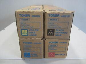 Konica Minolta Toner Set CMYK TN221K TN221C TN221M TN221Y für Bizhub C227 C287
