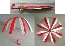 Alter rot/weisser Regenschirm - Glockenschirm - Kinderschirm - PVC
