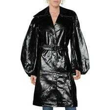 J Brand Womens Antonia Patent Leather Long Trench Coat Outerwear BHFO 5792