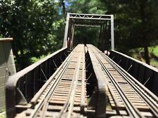 HO Scale Railroad Bridge, scratch-built, wood, paper, plastic
