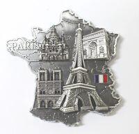 Magnet Aimant Frigo G194AN Couleur Ancien 7x7x1,5 cm Souvenir France Paris Métal