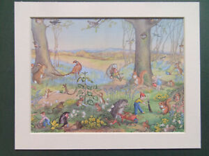 """MOLLY BRETT VINTAGE 1970'S PRINT IN NEW MOUNT 10""""x8"""" READY TO FRAME"""