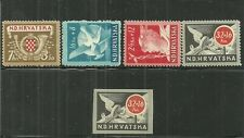 CROATIA / YUGOSLAVIA- SEMI-POSTAL SET & RARE UNLISTED IMPERF OF HIGH VALUE