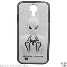 White / Silver Spider-Man Spider Man Spiderman 3D Samsung Galaxy S4 Plastic Case