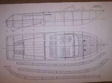 RIVA AQUARAMA model  boat ship  plans