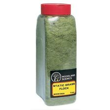 Woodland Scenics 635 Static Grass Flock Medium Green 32 oz Shaker - NIB