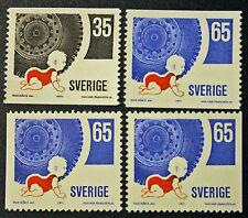 Timbre SUÈDE / Stamp SWEDEN Yvert et Tellier n°700, 701 et 701b (cyn9)