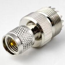 UHF Female SO239 Jack to Mini UHF Male PL259 Plug Straight RF Adapter Connector