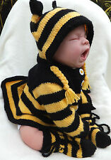 KNITTING PATTERN (INSTRUCTIONS) TO MAKE **MR. BUMBLE** BABY ROMPER & CARDI SETS