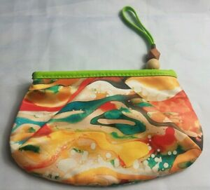 Mary Kay Yellow Orange Watercolor Cute Accessory Zip Makeup Bag