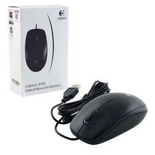 Logitech B100 USB Optical Mouse Precision 800dpi Black. Brand New 910-003357