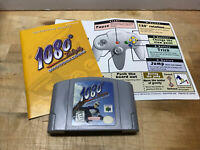 1080 SNOWBOARDING Nintendo 64 game + BOOKLET & OPERATION CARD! Authentic N64 BB