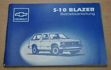 Chevrolet S-10 S 10 Blazer GM V6 4,3 1993 Bedienungsanleitung Betriebsanleitung