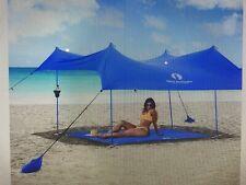 Red Suricata Family Beach Sunshade Large Blue