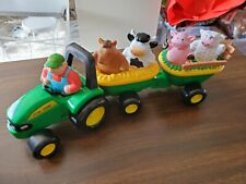 John Deere Musical Animal Tractor Hayride Includes 4 Animals & John Deere Driver