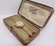 Donna Vintage .375 9CT MATT ROLEX TUDOR orologio da polso + Scatola periodo