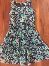 girls JUSTICE DRESS flowers WORN ONCE! sequins SLEEVELESS summer TEAL size 6
