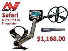 Minelab's Safari Metal Detector & Pro-Find 25 Pin-pointer Ships FREE