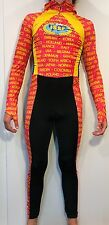 Full Body Long Sleeve SpeedSkating suit speedsuit Hood Olympics singlet skinsuit