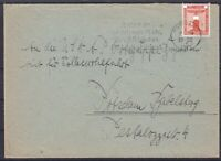 DR Dienst MI Nr. 149 EF Brief, gel. in Potsdam 1940 mit WS Luftschutz