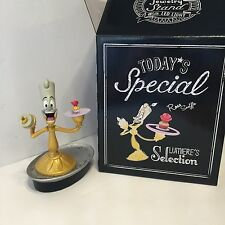 disney happy tea time lumiere with tray light up figurine new with box