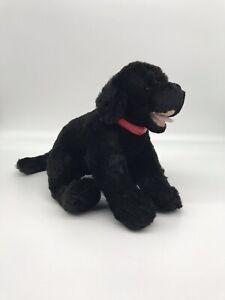 "Vtg 1997 Build A Bear Solid Black Labrador Puppy- Dog Kennel Pals 14"""